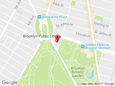 Google Map of 10 Grand Army Plaza Brooklyn, NY